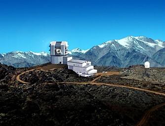 GODE FOTOFORHOLD:På en fjelltopp i Andesfjellene, 2800 meter over havet, skal LSST-teloskopet oppføres i 2011.(Foto: LSST)