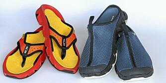SANDAL: Testteamet har også prøvd sandal og tøffel fra samme merke, også de kan anbefales.