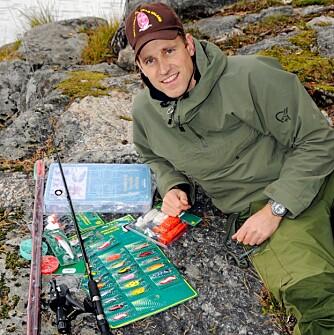 Så mye fiskeutstyr fikk Håkon Gregersen for 500 kroner på Biltema.
