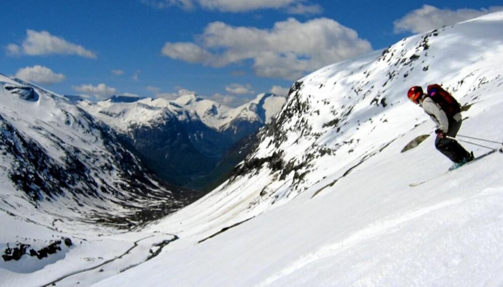 VAKKERT: Frikjøring på Stryn er noe av det vakreste Petterson har vært med på.