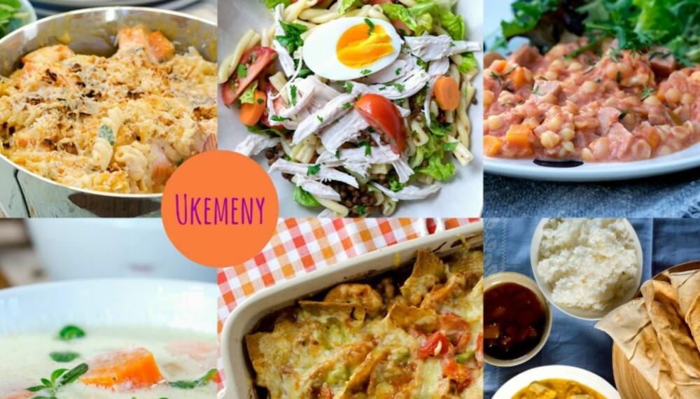 EN GOD START PÅ ÅRET: Fristende, sunne middager for den første uka i januar.