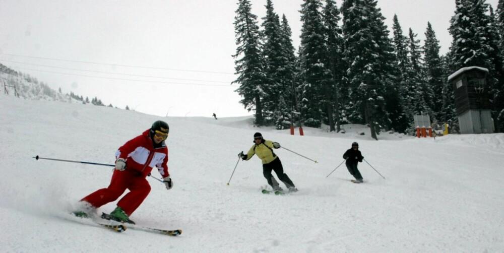 BAD GASTEIN: I Bad Gastein i Østerrike ligger snøen metertykk.