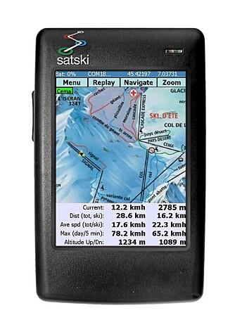 SATSKI GPS: Det unike programmet satski GPS må være alle skikjøreres drøm.