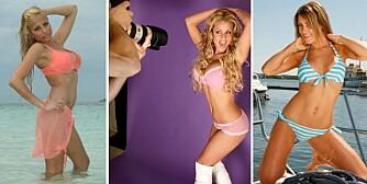 IKKE GLAMOURØST: Glamourmodellene Linni Meister og Helene Rask er ikke på inntektstoppen for i fjor. Det er heller ikke eksmodell Lene Alexandra Øien.