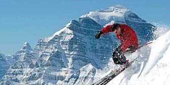 UTFORDRENDE: Lake Louise-skianlegg i Banff nasjonalpark er et av de første som åpner for sesongen i Canada.