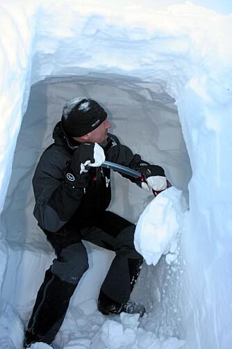 KULDEGROP: Kuldegropa er en del av inngangen, og bør ligge en halv meter lavere enn liggeplassene.