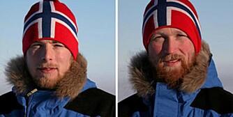 SNART I MÅL: Rune Malterud (t.v.) og Stian Aker i Missing Link.  Amundsen Omega-3 South Pole Race