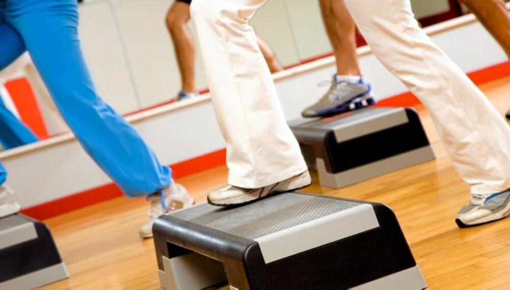 STEP: På Norges Idrettshøyskole kan du spesialisere deg på spesialisere deg på for eksempel step og kickbox.