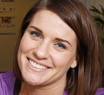 GRÜNDER: Sarah Hansson er opprinnelig amerikansk, og ble introdusert for Curves av moren, som trener der. Nå har Sarah og en venninne startet Curves på Lysaker og i Sandvika.