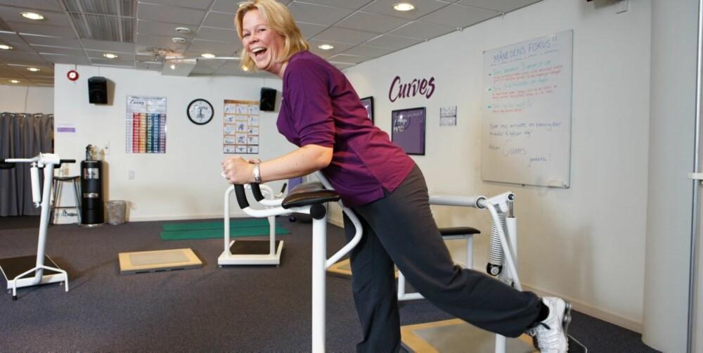STATISTIKK: Beate synes det er flott at man følges opp og får statistikk over egen fremgang. Da ser hun også hvor fort formen daler når hun dropper treningen.