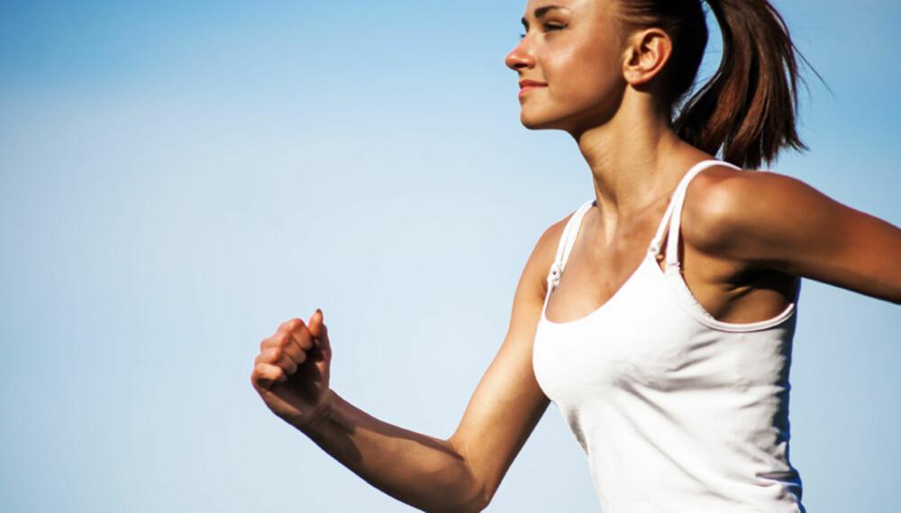 EFFEKTIV LØPSTEKNIKK: Du må passe på teknikken når du løper. Foto: COLOURBOX