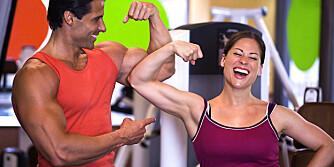 FREMGANG: Velg en belastning som er så tung at du klarer maks 8¿12 repetisjoner. Øk belastningen etter hvert som du blir sterkere.