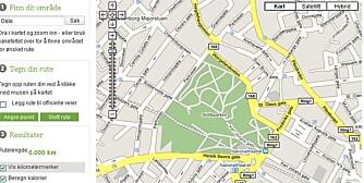 KLIKK OPP RUTEN: Med noen enkle museklikk tegner du opp ruten din i det interaktive kartet.
