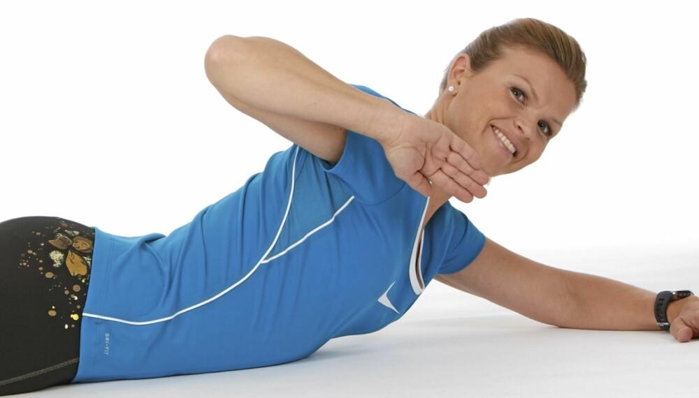 ROTASJON: Øker bevegelighet og styrke i den midtre delen av ryggen.