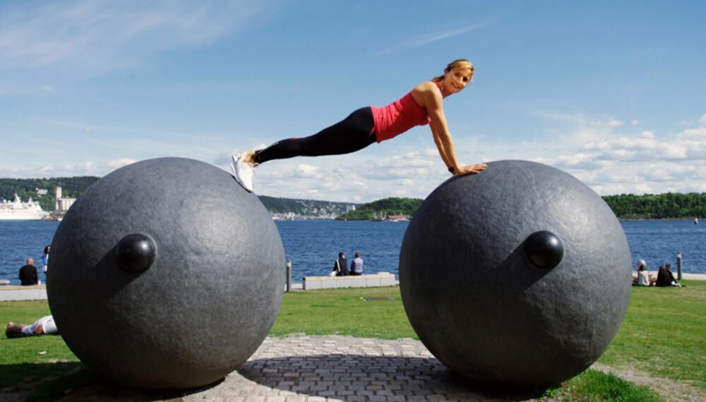 STYRKETRENING GIR VEKTTAP: I løpet av et år kan styrketrening gi deg et vekttap på hele fem-seks kilo. Foto: Jenny Mina Rødahl