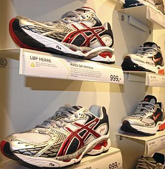 OVER 1000 KRONER: For et par riktig gode sko må man opp i 1000 kroner og vel så det, sier skoansvarlig i G-Sport i Nydalen.