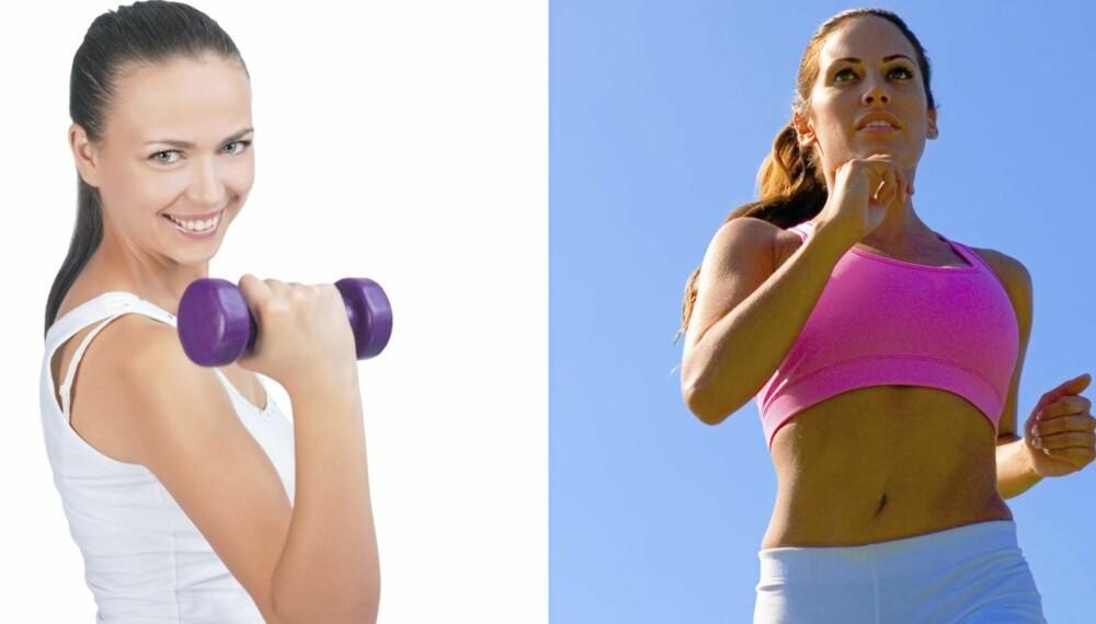 EFFEKTIVITET: Isolert sett er løping den aktiviteten som forbrenner mest kalorier, men styrketrening gir høyere forbrenning også i lang tid etter treningen.