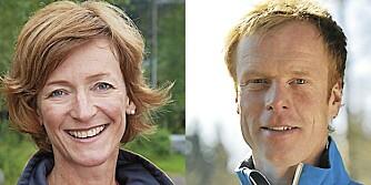 SKILEGENDER: Trude Dybendahl og Bjørn Dæhlie.