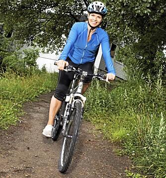 Jill Jahrmann gir treningstips til intervall trening. Journalist: Torhild Ribe.