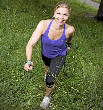 Jill Jahrmann gir treningstips til intervall trening. Journalist: Torhild Ribe. Jill Jahrmann trening bilag 34
