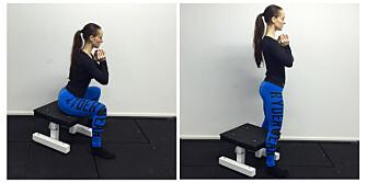 SPRETTRUMPE-ØVELSE: Knip rumpa og ha spenn i magen når du er på topp! FOTO: Ingvild Silseth