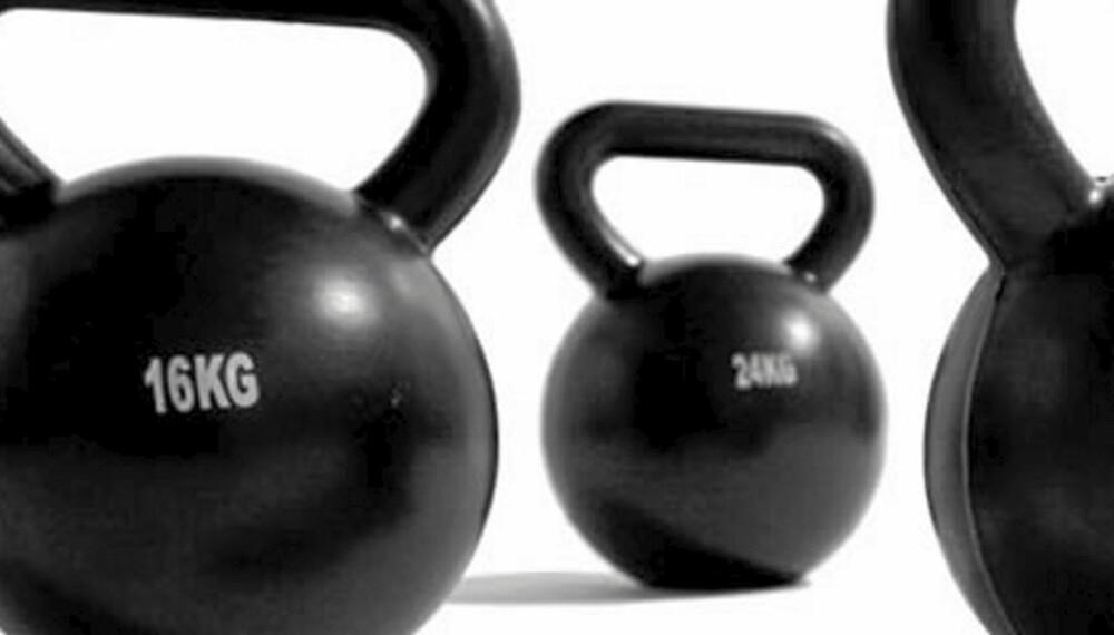 BYGGER MUSKLER: Med en Kettlebell kan du bygge både muskler og smidighet.