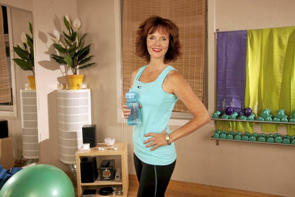 ALDRI SPREKKMETT: Mari spiser seg aldri stappmett. Men vann er helsebot.
