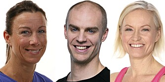TRENINGSEKSPERTENE: Trine Dowerdock (f.v.), Halvor Lauvstad og Siv Kroken Gitsø.