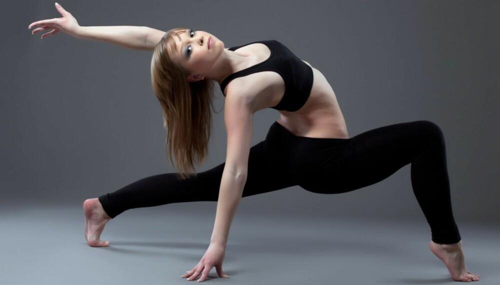 SMIDIGHET: Mens mange menn ofte er veldig stive og stramme i muskulaturen er det i mange tilfeller motsatt med damene, noe som kan komme godt med under styrketrening.