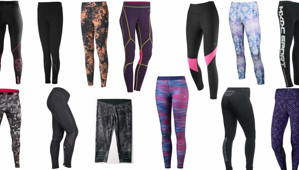 TEST AV TRENINGSTIGHTS: Vi har testet 13 tights for løping i varmt vær eller til innendørs løping på tredemølle. Tre tights får terningkast seks.