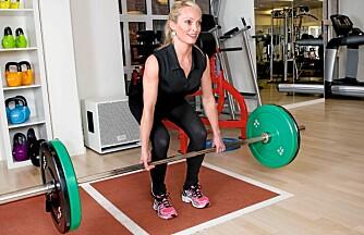 MARKLØFT: Du trener rygg og bein.