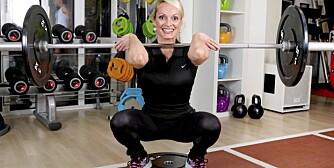 FRONT KNEBØY: Du trener rygg, lår, sete og overkropp.