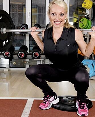 KNEBØY: Du trener muskler i sete og lår.