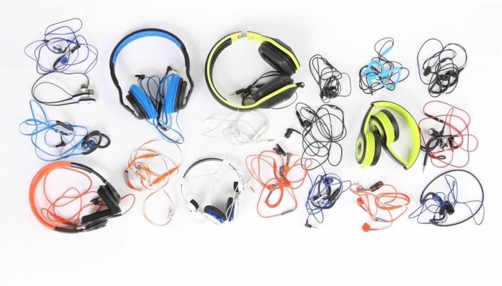 HODETELEFONER: Klikk Helse har testet 20 hodetelefoner til trening.