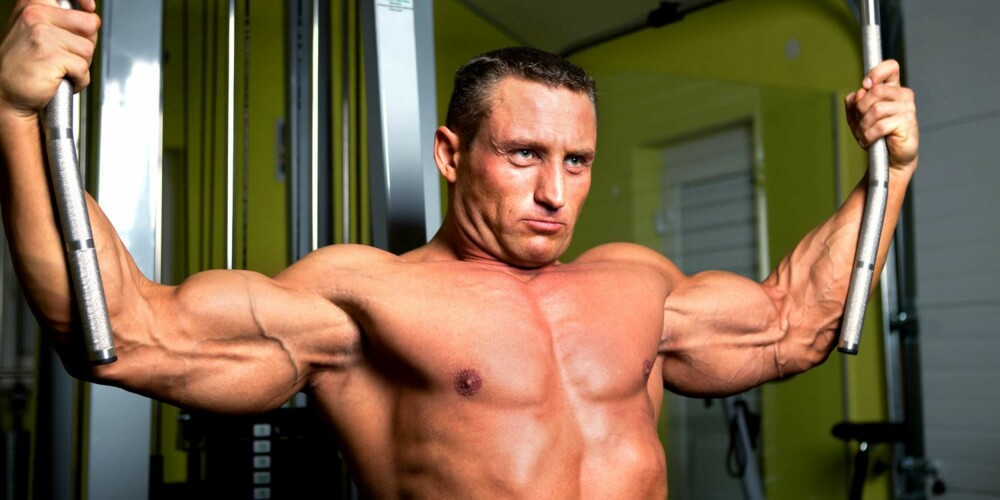 MUSKLER: Ikke alle kan få kjempemuskler, selv om de trener mye.