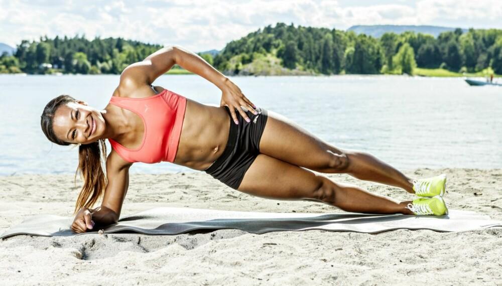 RASK: Selv om du ikke går rundt med en sprinterspire i magen, kan du ha god nytte av øvelsene til Ezinne Okparaebo