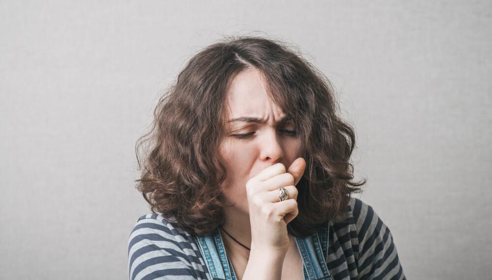 PÅ VAKT: Vær på vakt hvis du begynner å hoste mye uten å være forkjølet.