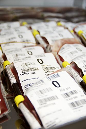 GI BLOD: Blod kan redde liv, og kan ikke lages kunstig.