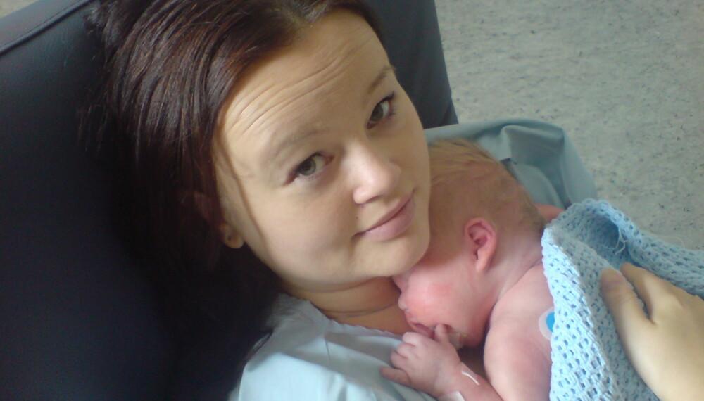 TUNG FØDSEL: Anette Kvernvik fikk store skader under fødselen for åtte år siden, og hun lever med fortsatt med følgene.