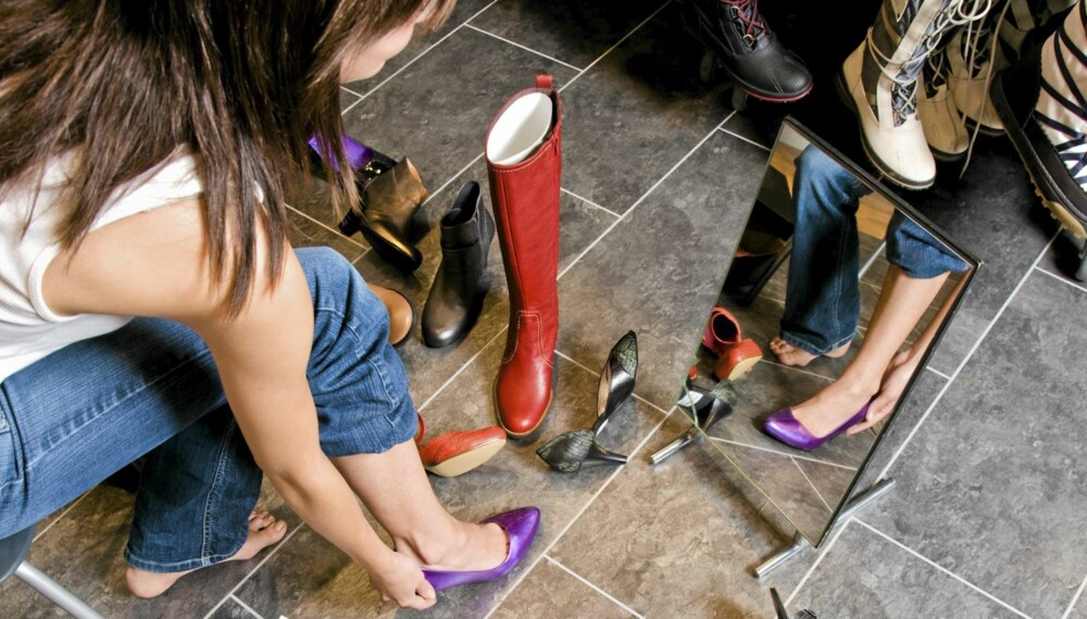 SKOGALSKAP: Høye hæler kan fremprovosere _hallux valgus_, skjevstilt storetåledd og hammertå.