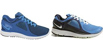 FALSK ELLER EKTE? Skoen til venstre er en ekte Nike Lunareclipse+ damesko fra Löplabbet, kr. 1500. Den til høyre er en uekte Nike Lunar Eclipse sko, kr. 440 fra Nikeworks.com. Vær oppmerksom på at Nike også selger en modell som er helt lik kopivaren til høyre.