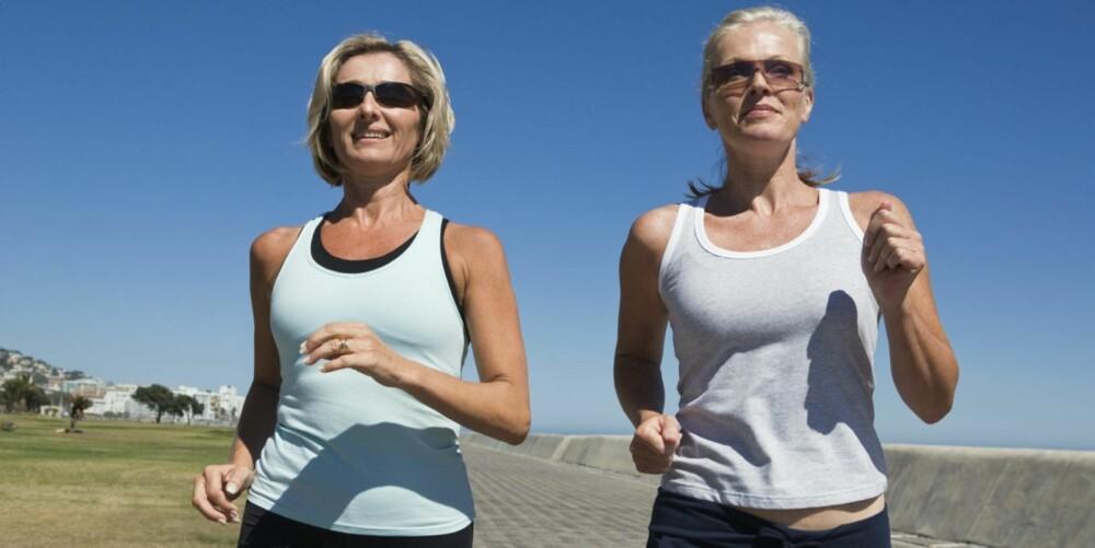 TRENING HJELPER: Regelmessig mosjon forbedrer sammensetningen av fettstoffer i blodet.