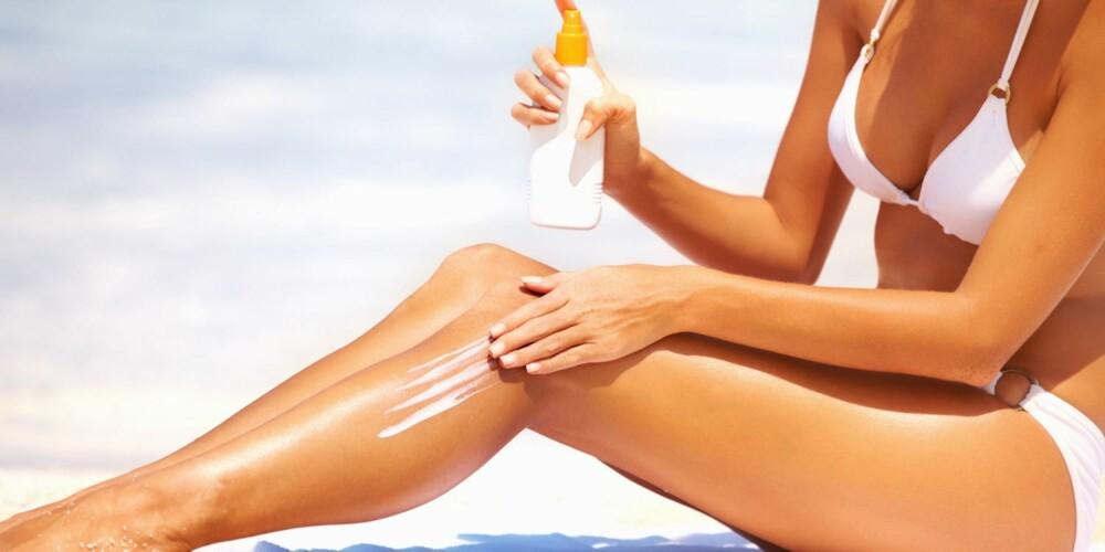 KREFT PÅ LEGGEN: For kvinner er det vanligst å få føflekkreft på leggen.