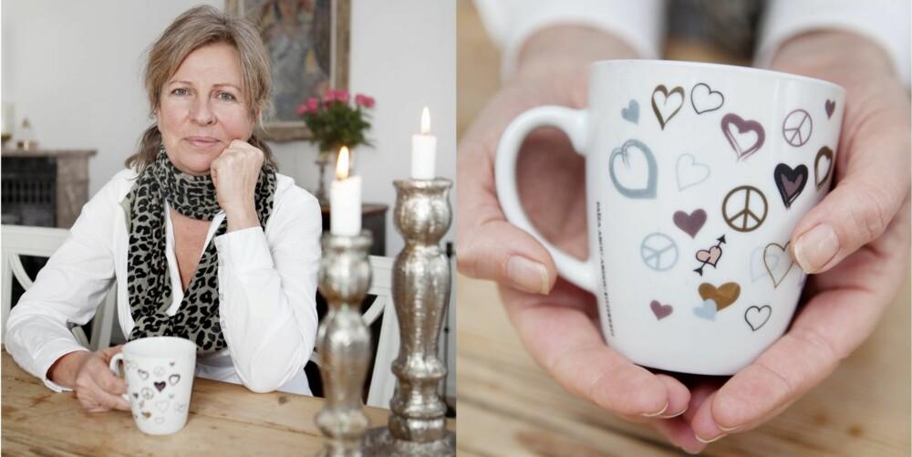 DEN SISTE GAVEN: Denne velbrukte koppen er en av de kjæreste eiendelene Anne Fi har, en gave fra Cornelia.