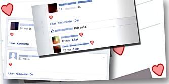 HJERTER PÅ FACEBOOK: Har du lagt merke til at flere av Facebook-vennene dine har hjerter i statusen?