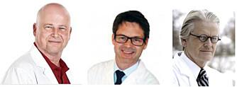 PLASTIKKIRURGER: F.v. Øyvind Borch Bugge, plastisk kirurg ved Bugge Plastikkirurgi, Bjørn Tvedt, spesialist i plastisk kirurgi ved Akademikliniken i Oslo og Morten Kveim, spesialist plastisk kirurgi ved Dr. Kveims klinikk. FOTO: Privat