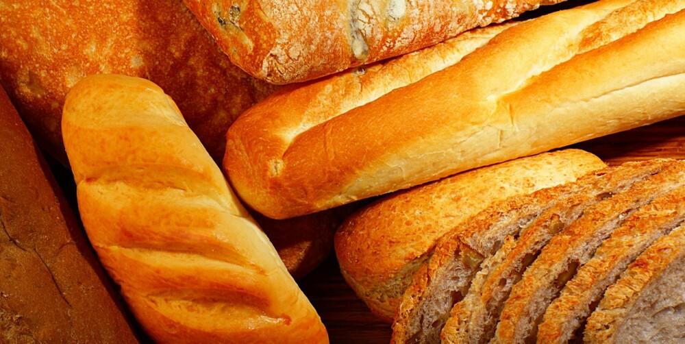 KORNVARER: Brød laget av hvete er nei-mat ifølge FODMAP-prinsippene.
