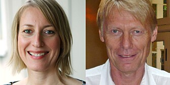 MATSIKKERHET: Marit Kolle, seksjonssjef ved Mattilsynet og Per Einar Granum, professor i mattrygghet ved Norges veterinærhøgskole.