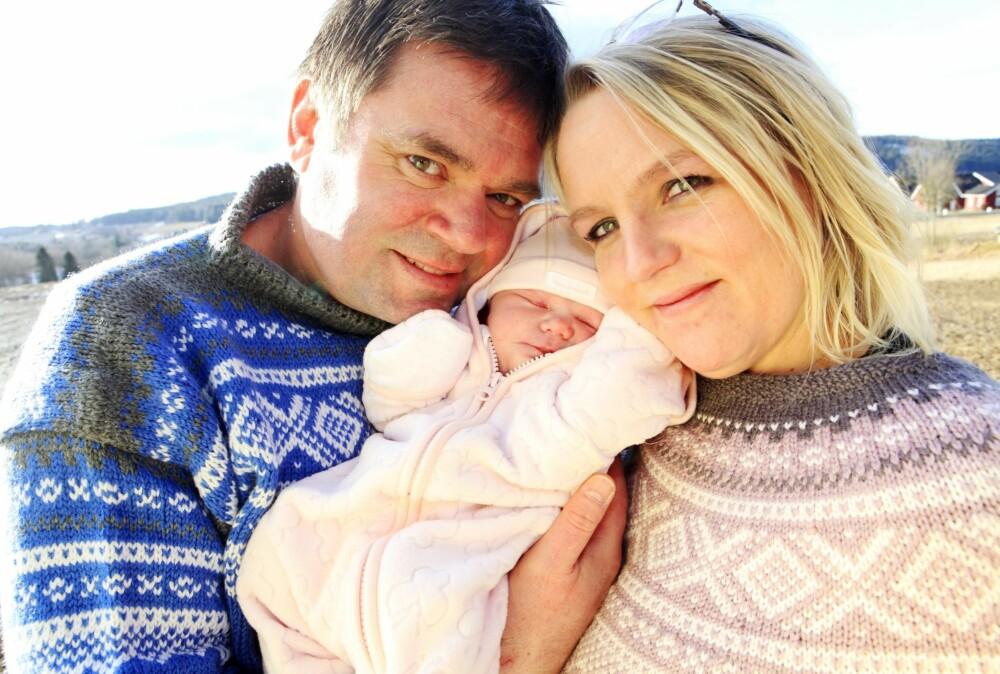 LYKKE: For første gang siden Tiril døde kjente pappa Thor Åge et snev av lykke da lille Ella-Oline kom til verden.