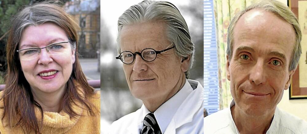 FRA VENSTRE: Psykolog Ingela Lundin Kvale, estetisk kirurg Morten Kveim og plastisk kirurg Lars Haasted.